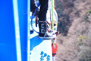 バンジーを飛ぶ瞬間の写真・画像素材[1238255]