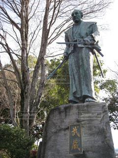 宮本武蔵の銅像@武蔵塚の写真・画像素材[1265841]