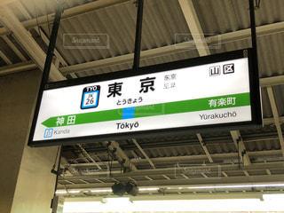 東京駅 京浜東北線ホームの看板の写真・画像素材[1364822]