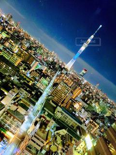 東京ホテルレバントからのスカイツリーと夜景の写真・画像素材[1797911]