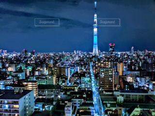 東京スカイツリーの夜景の写真・画像素材[1813648]