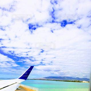 ホノルル空港、滑走路からの眺めの写真・画像素材[1818210]