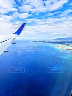 空からの美しいオアフ島の海の写真・画像素材[1822273]