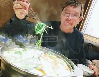 初めての鍋料理しゃぶしゃぶの写真・画像素材[3117981]