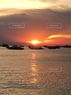 夕陽の写真・画像素材[1236000]