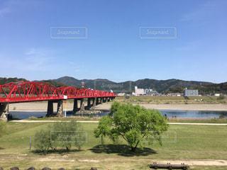 四万十川の赤鉄橋の写真・画像素材[1239379]