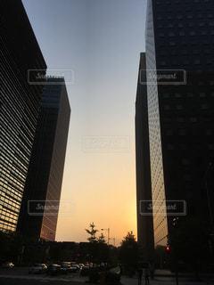 東京大手町の夕暮れの写真・画像素材[1237949]