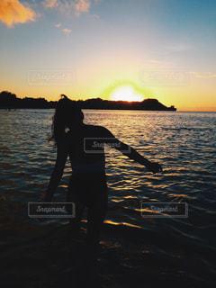 sunset beachの写真・画像素材[1237175]