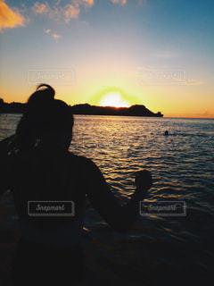 sunset beachの写真・画像素材[1237176]