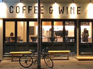 シンプルデザインのカフェ夜景の写真・画像素材[1646244]