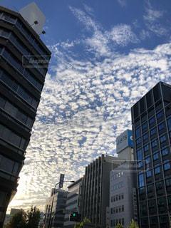 ビル街のうろこ雲の写真・画像素材[1646459]