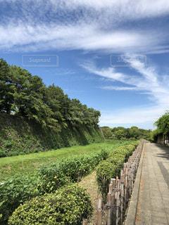 古城の緑と秋の空の写真・画像素材[2455739]