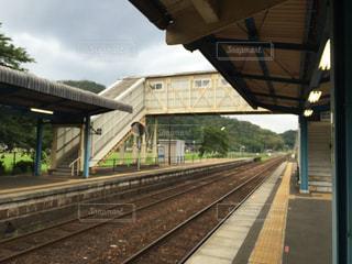 鉄道の駅に引いての写真・画像素材[1246024]