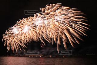 空に花火の写真・画像素材[1386765]
