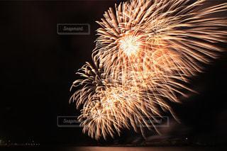 空に花火の写真・画像素材[1386766]
