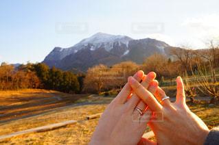 羊山公園と指輪の写真・画像素材[1240960]