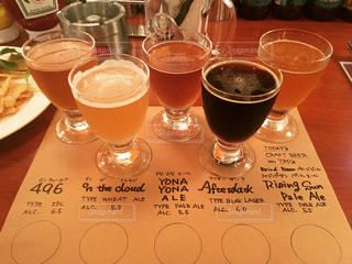 クラフトビールの飲み比べの写真・画像素材[1241127]