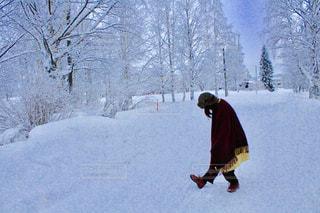 雪遊びの写真・画像素材[2058996]