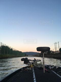 バス釣りの船出の写真・画像素材[1243000]