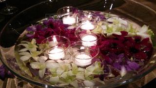 ディナー テーブルのキャンドルの写真・画像素材[1266575]