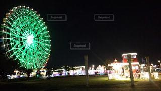 夜の遊園地の写真・画像素材[1532797]