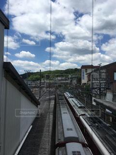 鋼のトラックの列車の写真・画像素材[1242466]