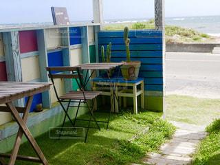 海沿いのカフェの写真・画像素材[1457233]