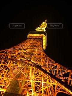夜の東京タワーの写真・画像素材[1242706]