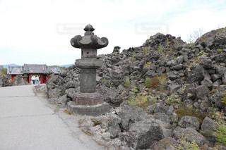 大きな岩の写真・画像素材[2949237]