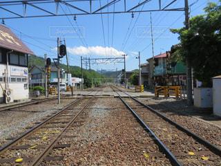 鋼のトラックの列車の写真・画像素材[1244091]