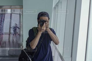 自撮り男子の写真・画像素材[1387813]