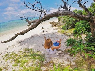 ビーチでブランコの写真・画像素材[1245069]