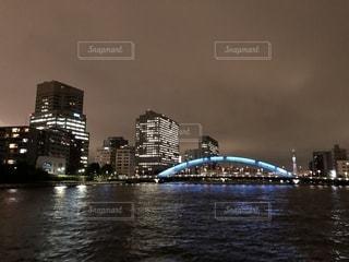 永代橋の夜景の写真・画像素材[1246616]