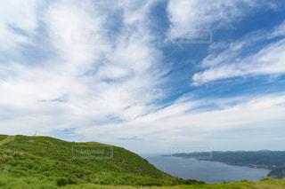 背景の山と水の大きな体の写真・画像素材[1252211]