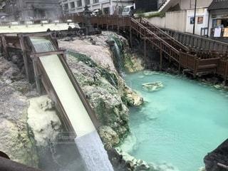 草津温泉 湯畑の写真・画像素材[1443890]