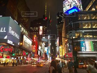 夜のマンハッタンの写真・画像素材[1248141]