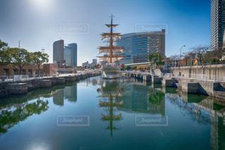 青空と日本丸。の写真・画像素材[1292630]