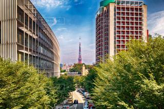 高層ビルと東京タワー。の写真・画像素材[1309407]