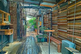 木目が可愛いカフェレストラン。の写真・画像素材[1314419]
