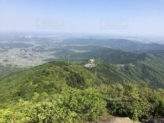 筑波山シリーズ第1弾   山頂からの景色  家が写ってたりします。登山はステキな景色との出会いが多いですね。の写真・画像素材[1248131]