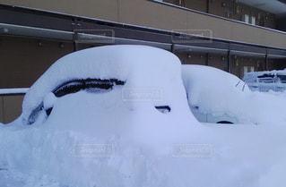 雪に埋もれる車の写真・画像素材[1249466]