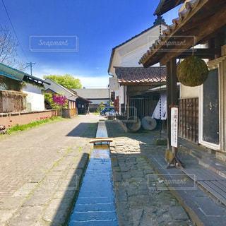 福島県 喜多方市 酒蔵のある風景の写真・画像素材[1259877]