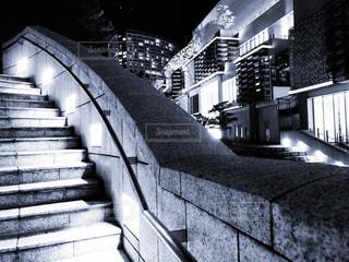 階段とモール(モノトーン)の写真・画像素材[1347737]