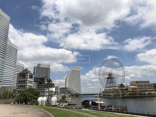 雲と桜木町の写真・画像素材[1347754]