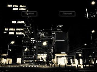 夜のみなとみらい駅の写真・画像素材[1347761]