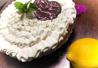 レモンクリームのケーキの写真・画像素材[1386464]