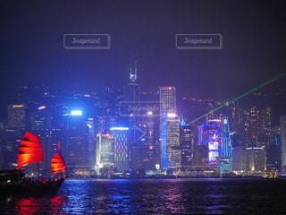 船と夜景の写真・画像素材[1250901]