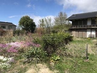 建物の前に茂みのある家の写真・画像素材[2222629]