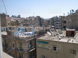 中東エジプトホテルの窓から見える景色の写真・画像素材[1251821]
