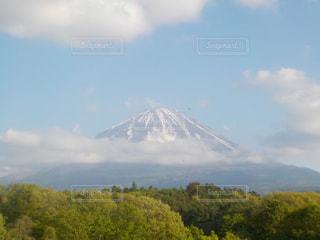 雲の上の富士山の写真・画像素材[3037943]